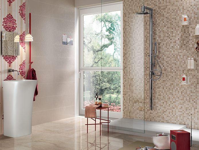 White-paste mosaic EMPREINTE Beige by Impronta Ceramiche ...