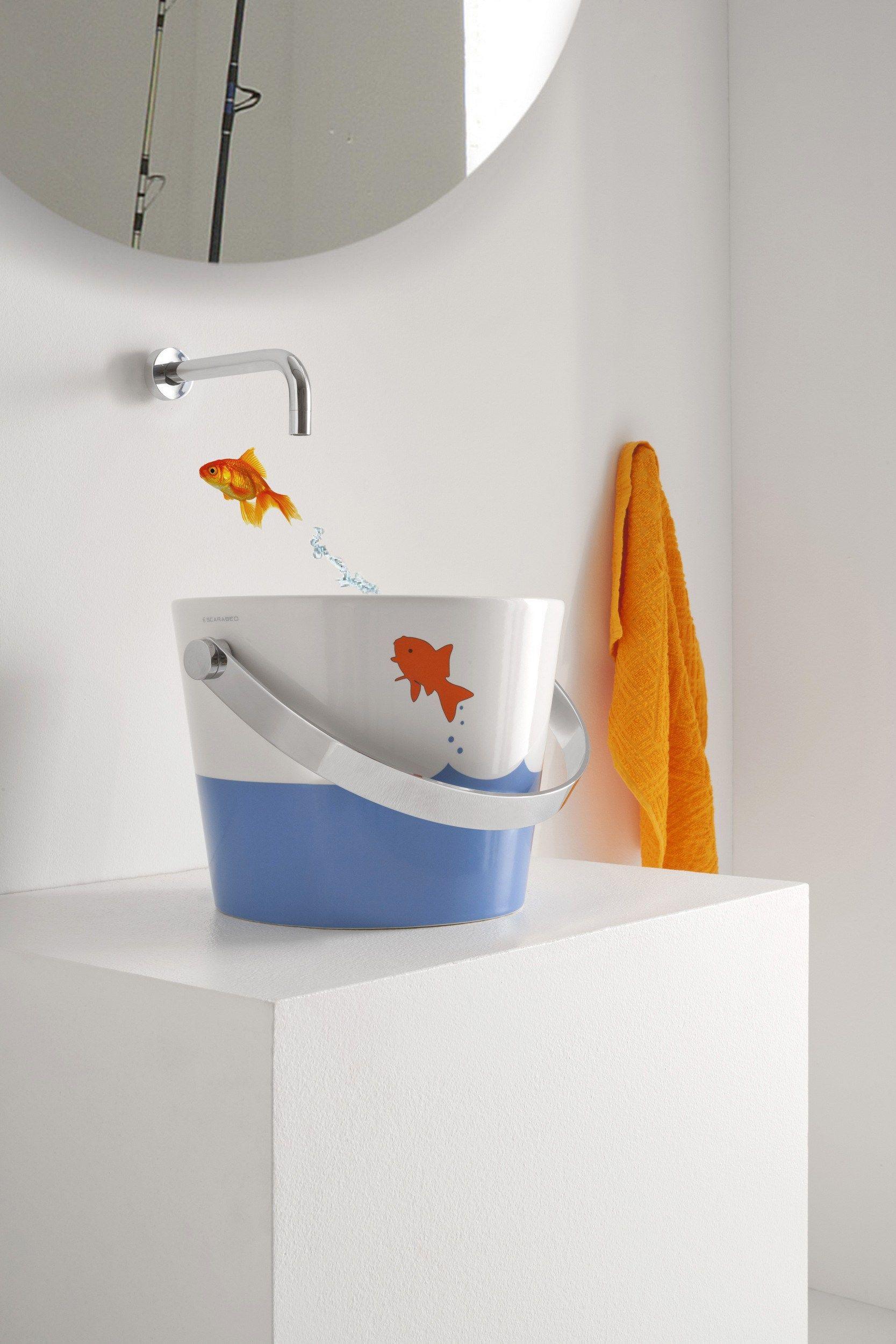bucket aufsatzwaschbecken by scarabeo ceramiche design. Black Bedroom Furniture Sets. Home Design Ideas