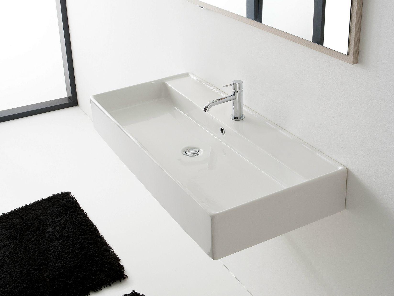 h nge waschbecken aus keramik teorema 120r a by scarabeo. Black Bedroom Furniture Sets. Home Design Ideas