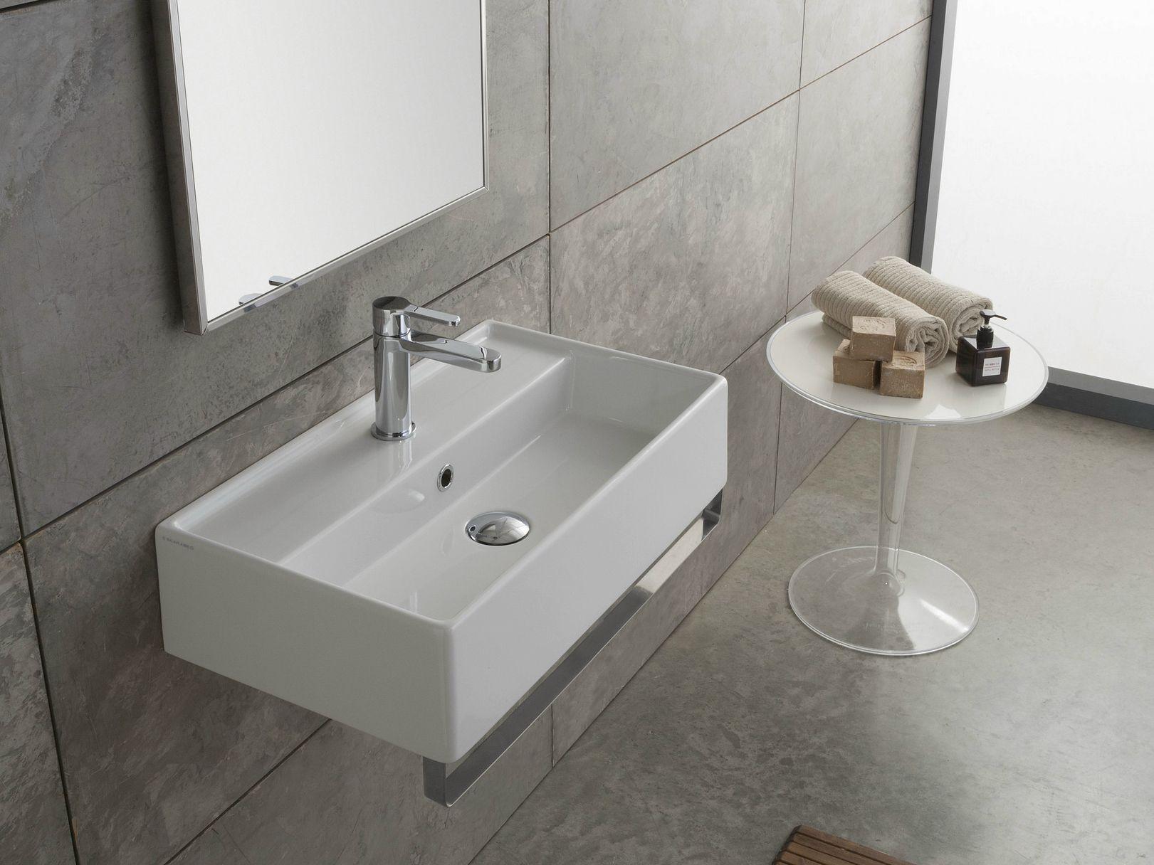 h nge waschbecken aus keramik teorema 60x35r by scarabeo. Black Bedroom Furniture Sets. Home Design Ideas