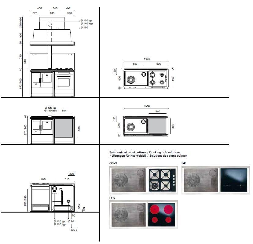 Cucina a libera installazione neos 145 lge corradi cucine - Cucine corradi rivenditori ...