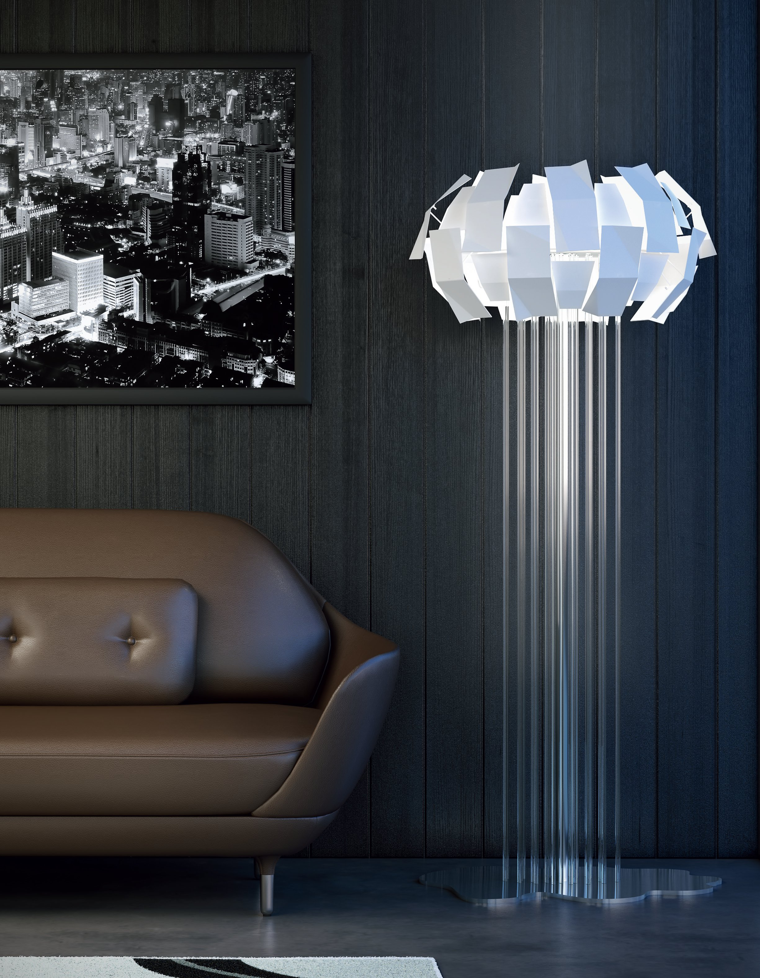 Pareti soggiorno ambiente for Lampade da salotto