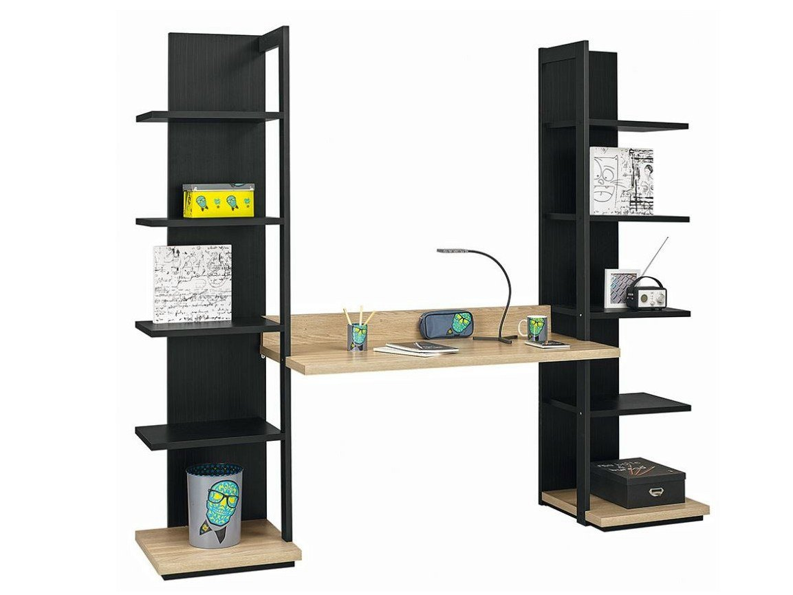 Bureau avec tag re urban 13 by gautier france - Bureau avec etagere integree ...