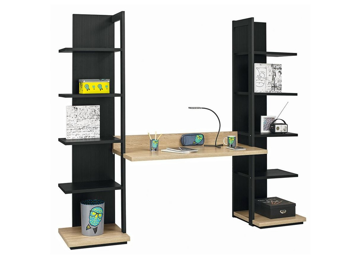 bureau avec etagere. Black Bedroom Furniture Sets. Home Design Ideas