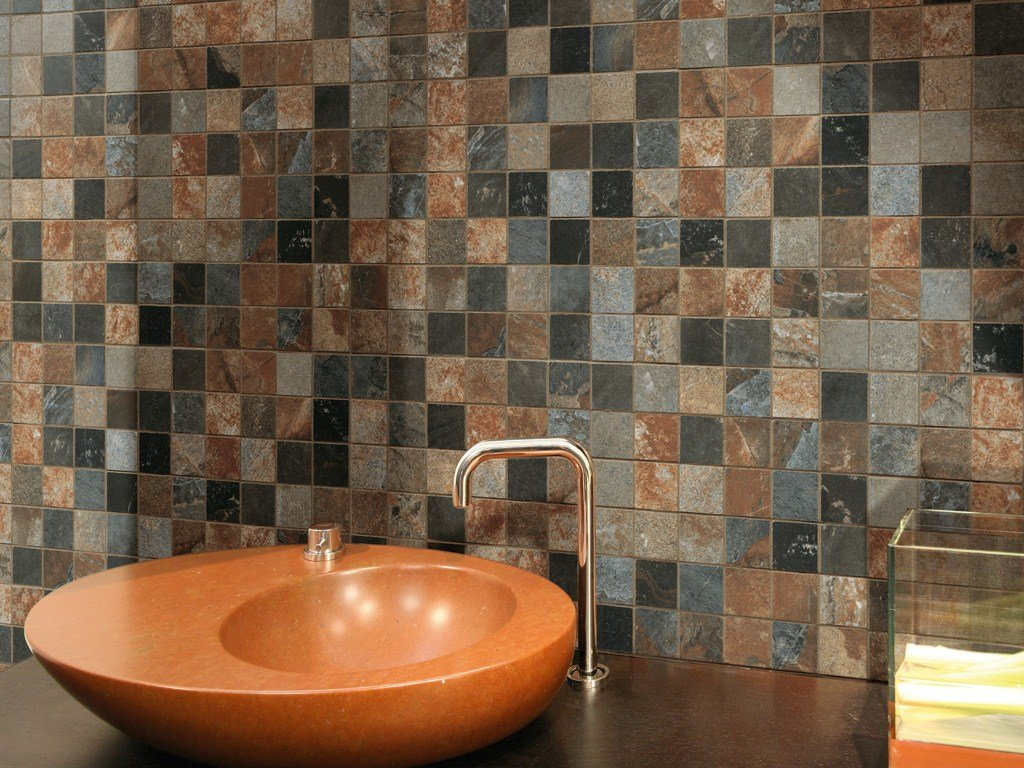 Porcelain stoneware wall tiles flooring mystique by - Ceramica rondine ...