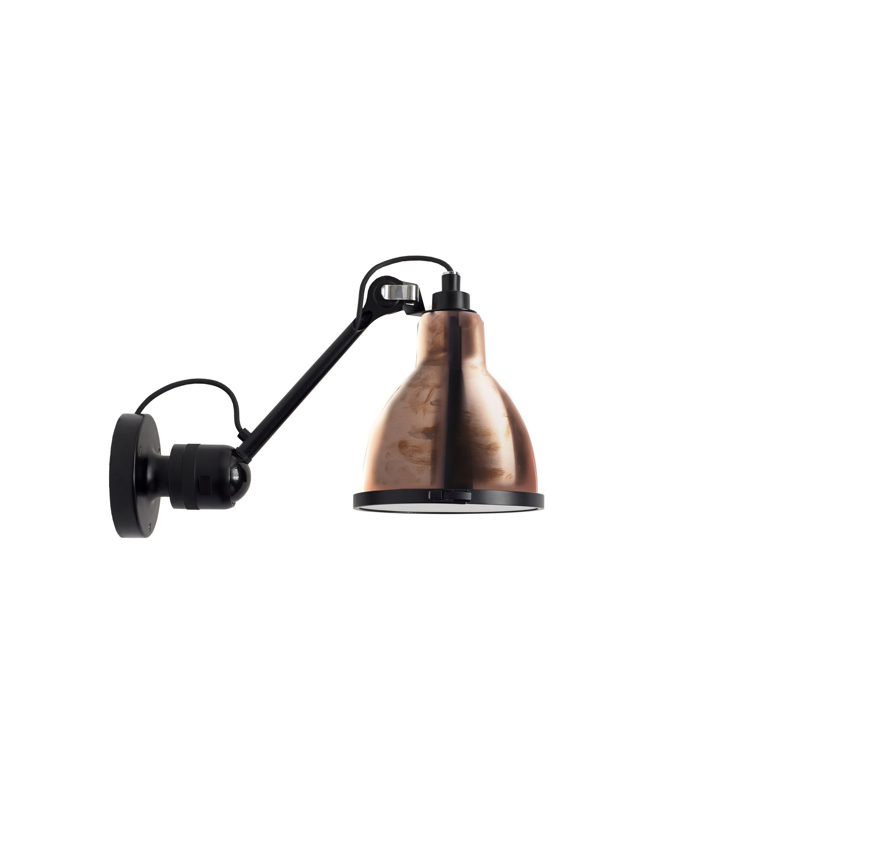 adjustable steel wall lamp 304 xl in and out by dcw ditions design bernard albin gras. Black Bedroom Furniture Sets. Home Design Ideas