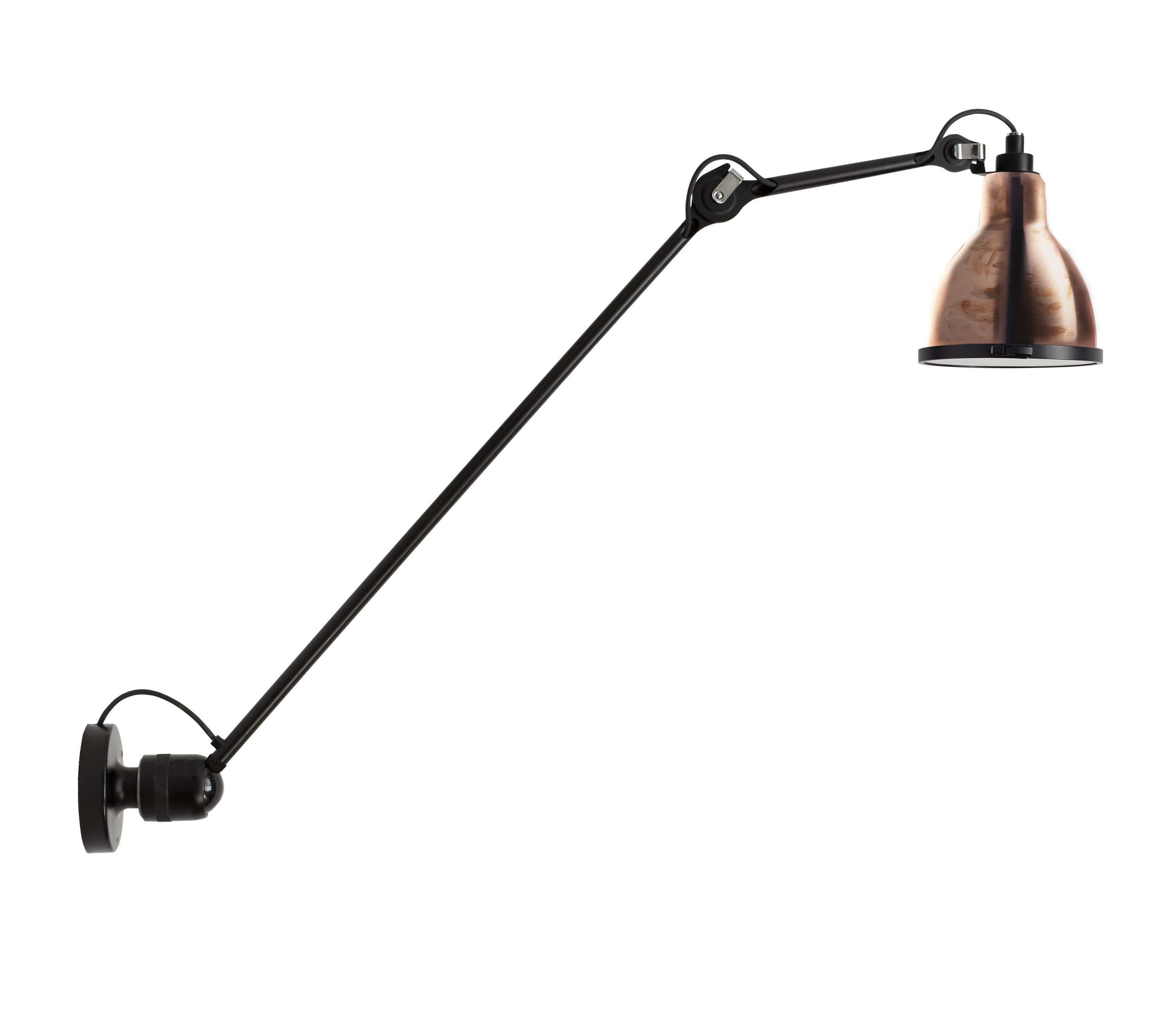 adjustable steel wall lamp 304 xl 90 in and out by dcw ditions design bernard albin gras. Black Bedroom Furniture Sets. Home Design Ideas