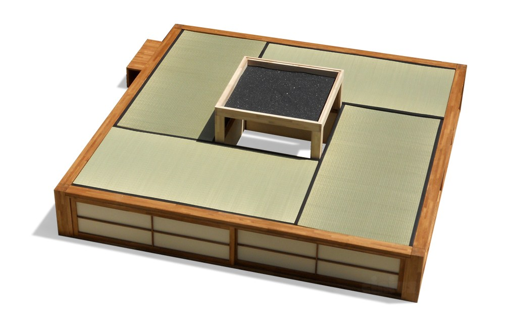 tatami wandelbares bett mit bettkasten podio by cinius. Black Bedroom Furniture Sets. Home Design Ideas