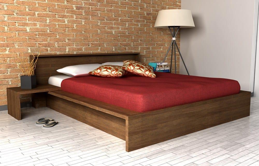 Letto contenitore matrimoniale in legno COMODO by Cinius design Fabio ...