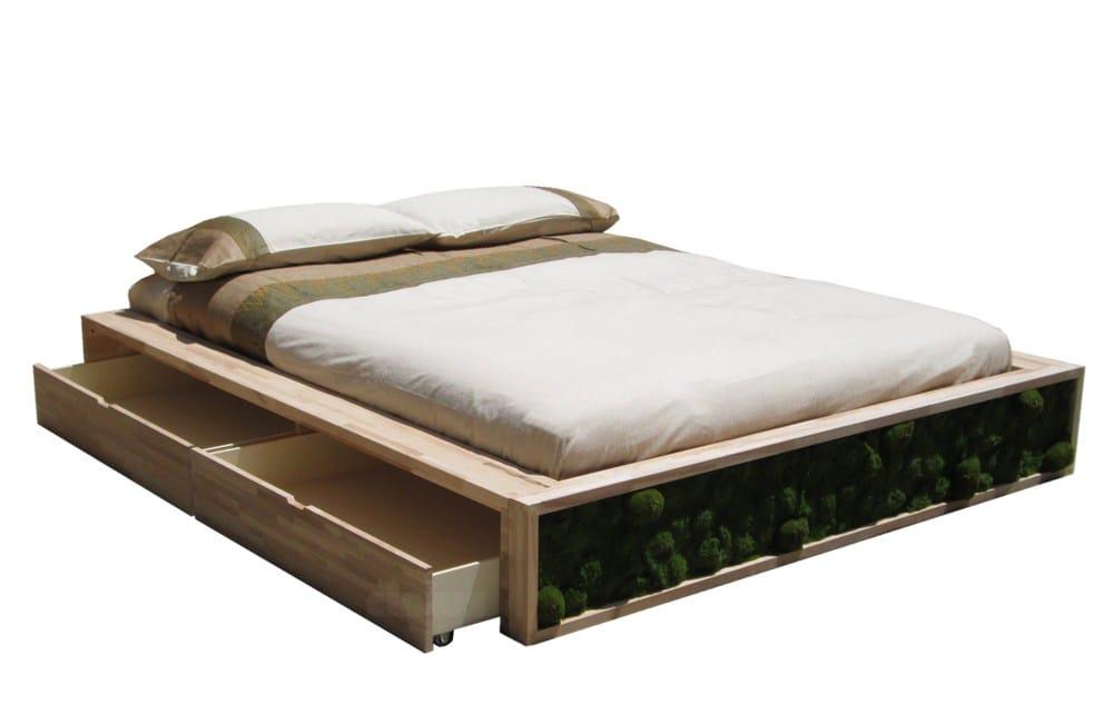 Letti In Legno Grezzo : Letto contenitore legno elegant letti contenitore prezzo misure e