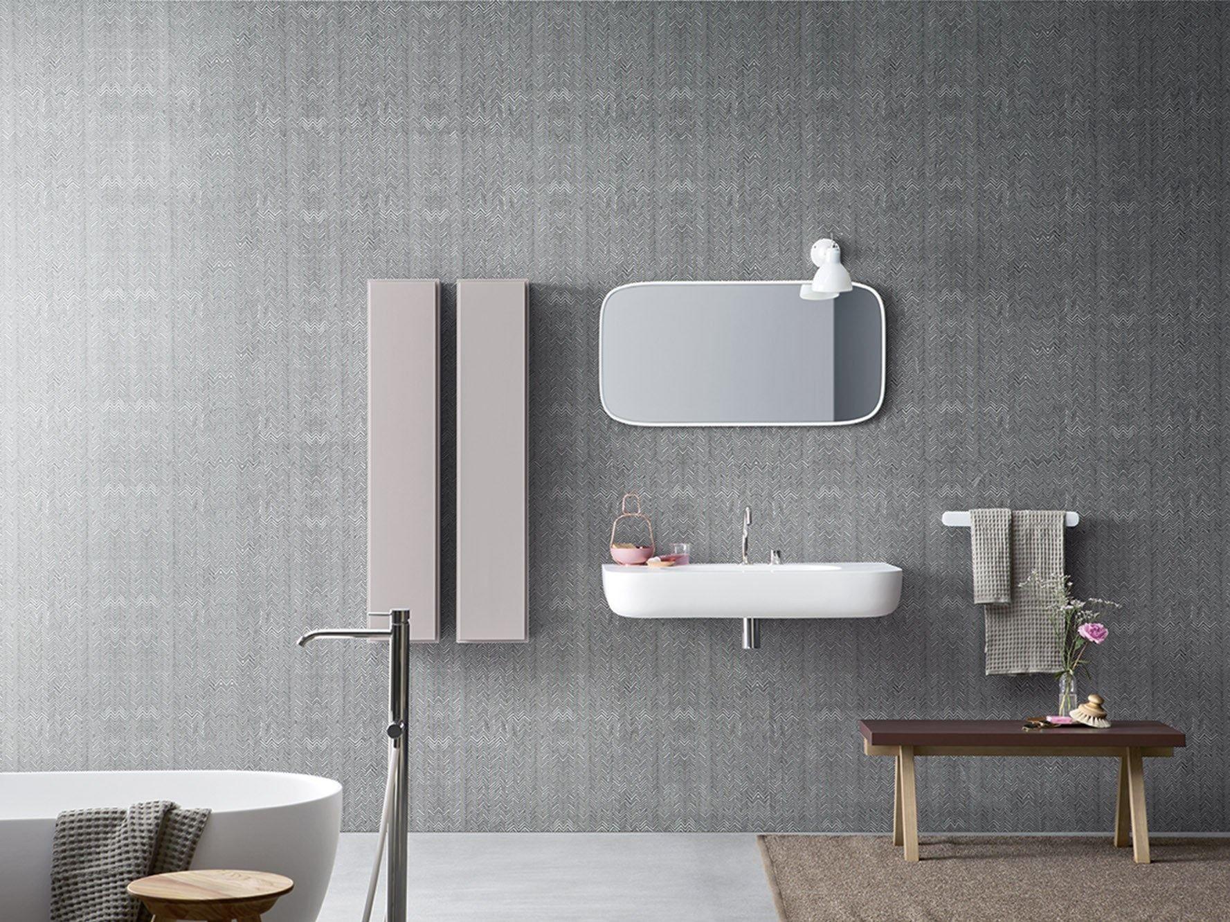 Papel de parede impermeável para banheiros FIBRA Papel de parede  #7A6151 1777 1332
