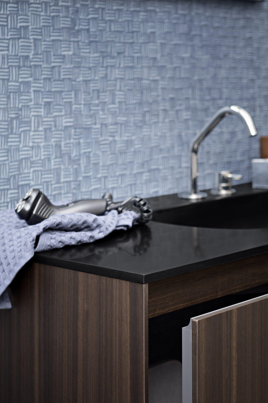 Papel de parede impermeável para banheiros FIBRA Papel de parede  #4F5C7C 2000 3000
