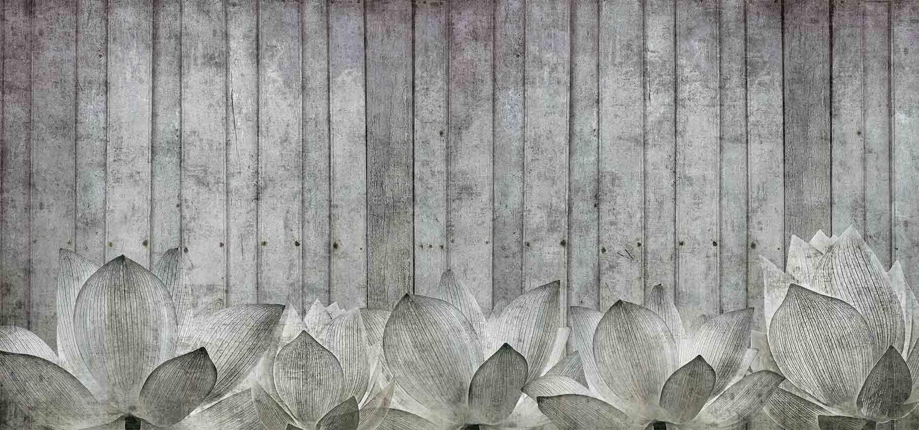 papier peint panoramique fleur shabby by n o w edizioni. Black Bedroom Furniture Sets. Home Design Ideas