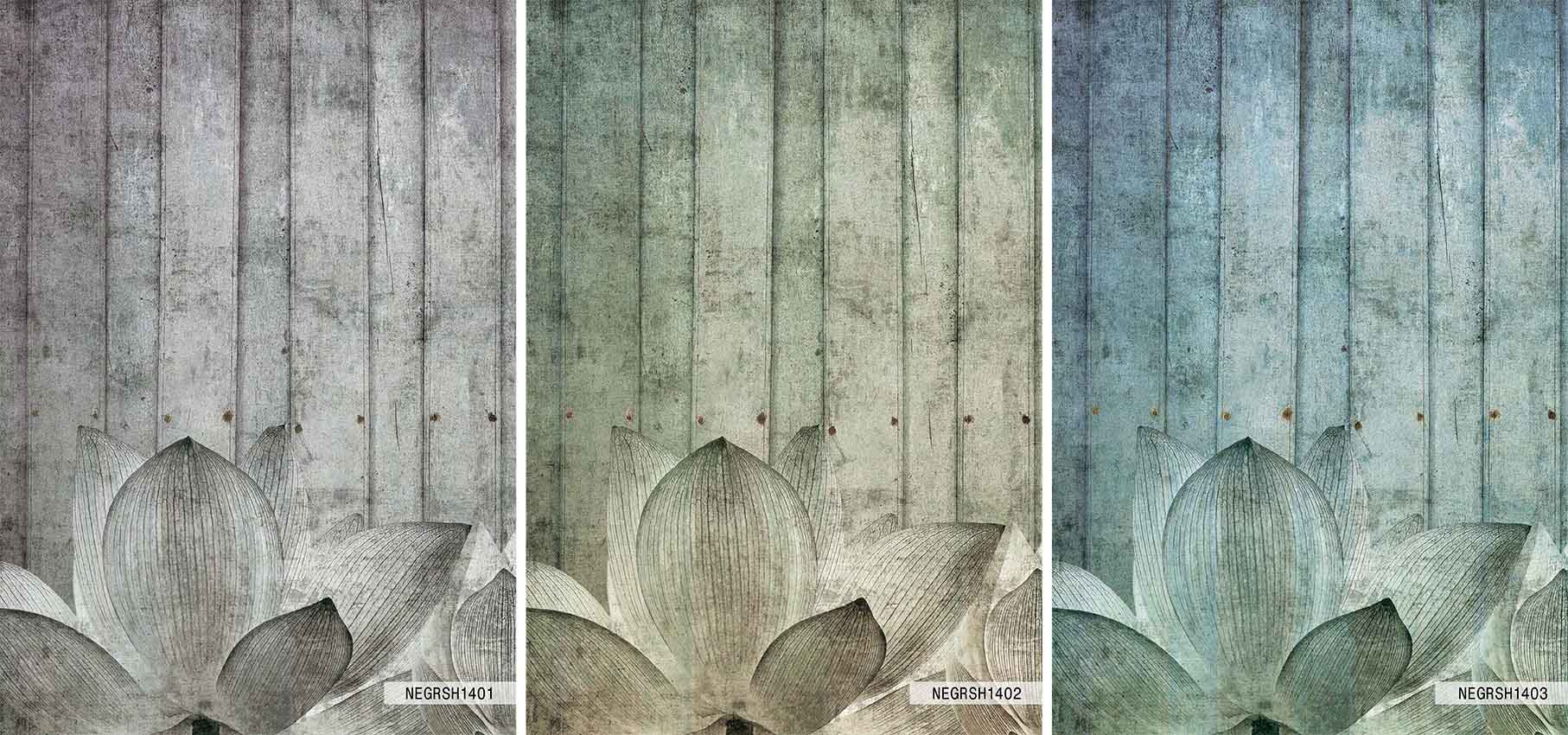 Carta da parati panoramica con motivi floreali shabby by n for Carta da parati shabby