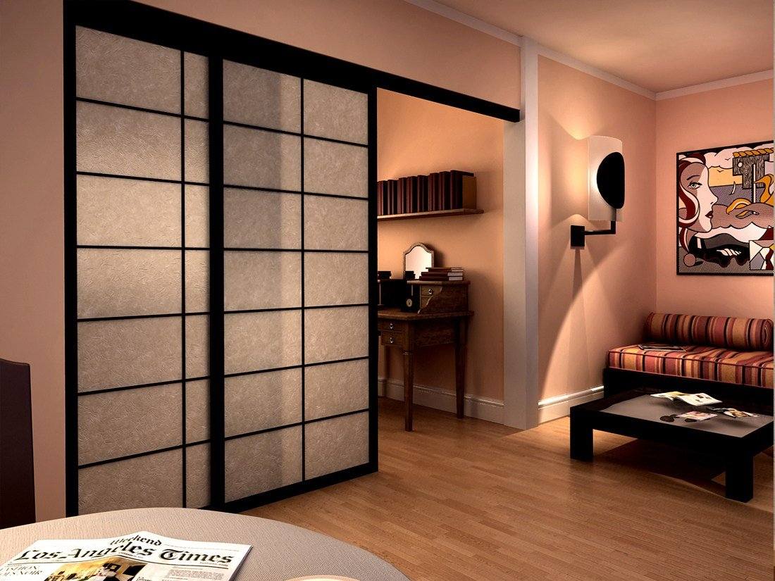 shoji cloison amovible coulissante by cinius. Black Bedroom Furniture Sets. Home Design Ideas