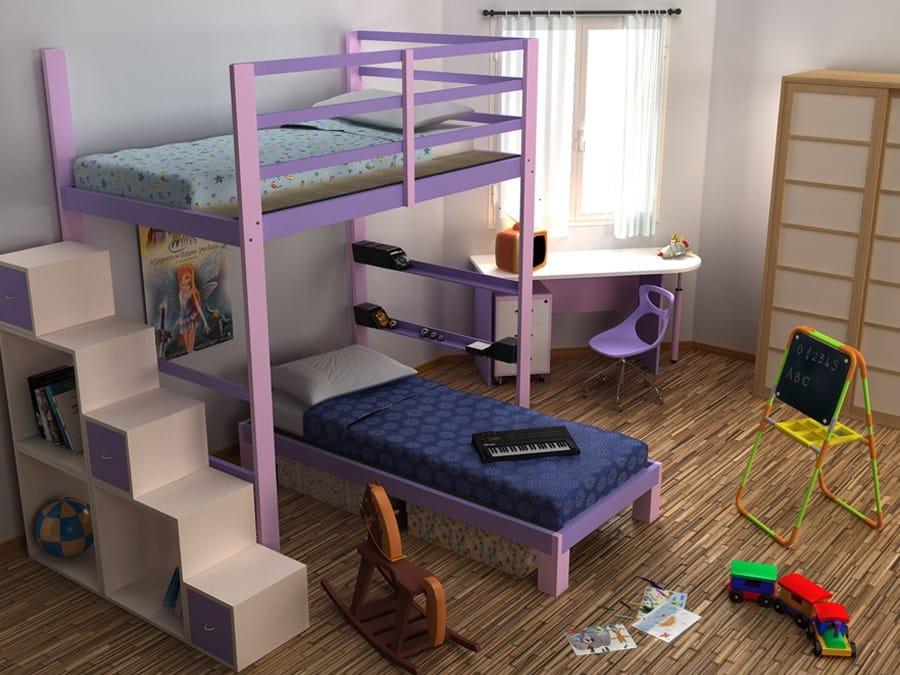 Schlafzimmer aus holz mit hochbett nido by cinius