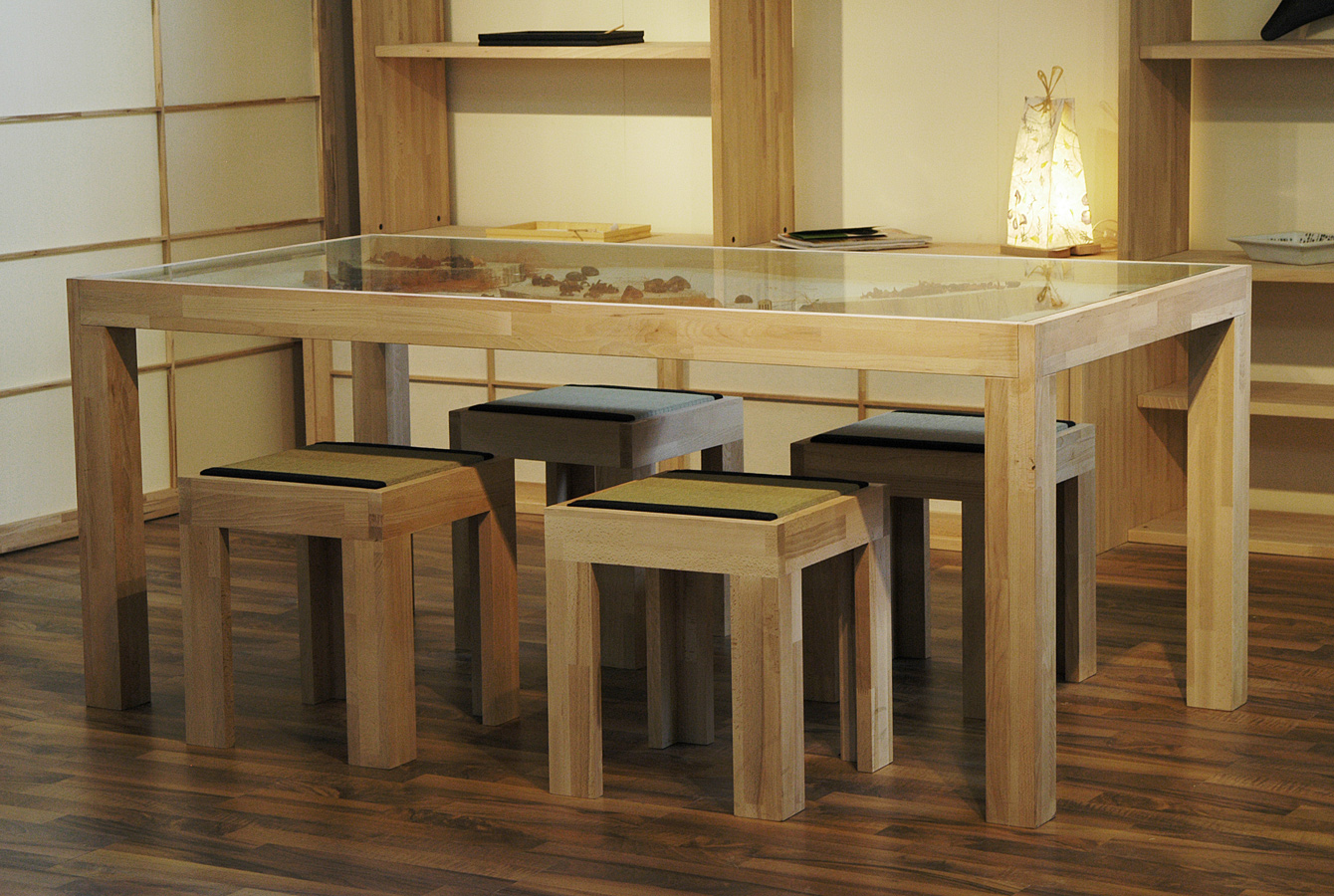 Table extensible rectangulaire en bois collection zen by for Table rectangulaire extensible bois
