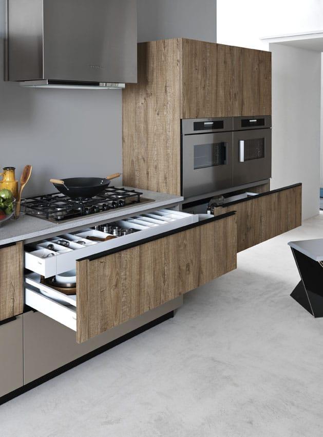 Cucina componibile lineare ariel composizione 3 for Cesar arredamenti
