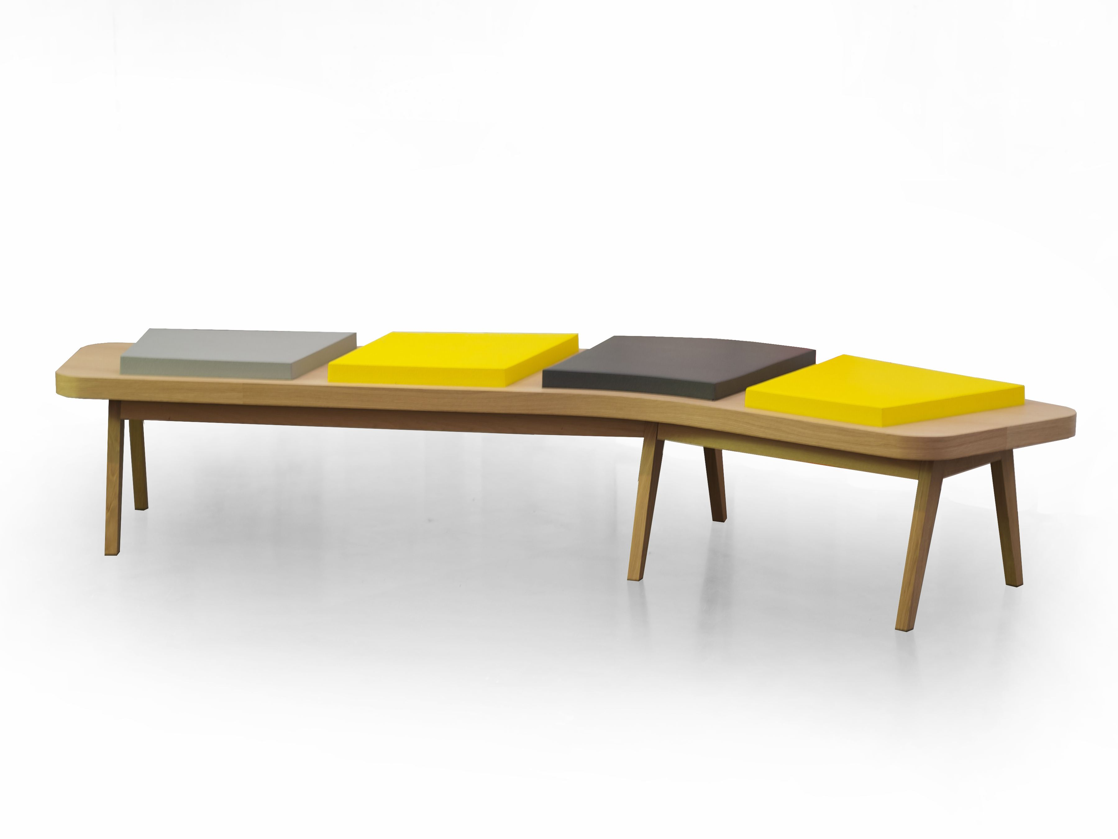 Backless Bench Seating Airbench Boomerang Small By Quinze Milan