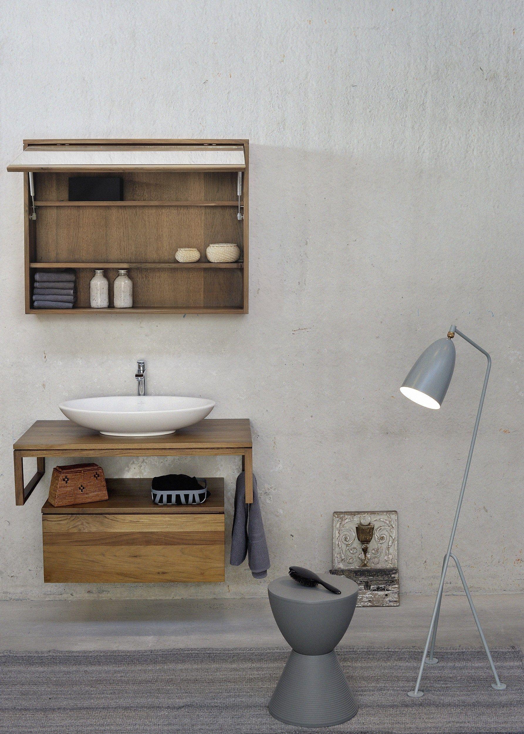 Imagens de #634B35 Móvel lavatório único de teca TEAK FELLOW Móvel lavatório  1786x2500 px 3384 Bloco Cad Lavatório Banheiro
