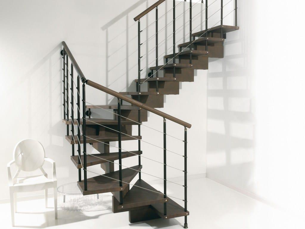Escalier en colima on en acier et bois scenik 040 collection scenik by fontan - Escalier colimacon acier ...