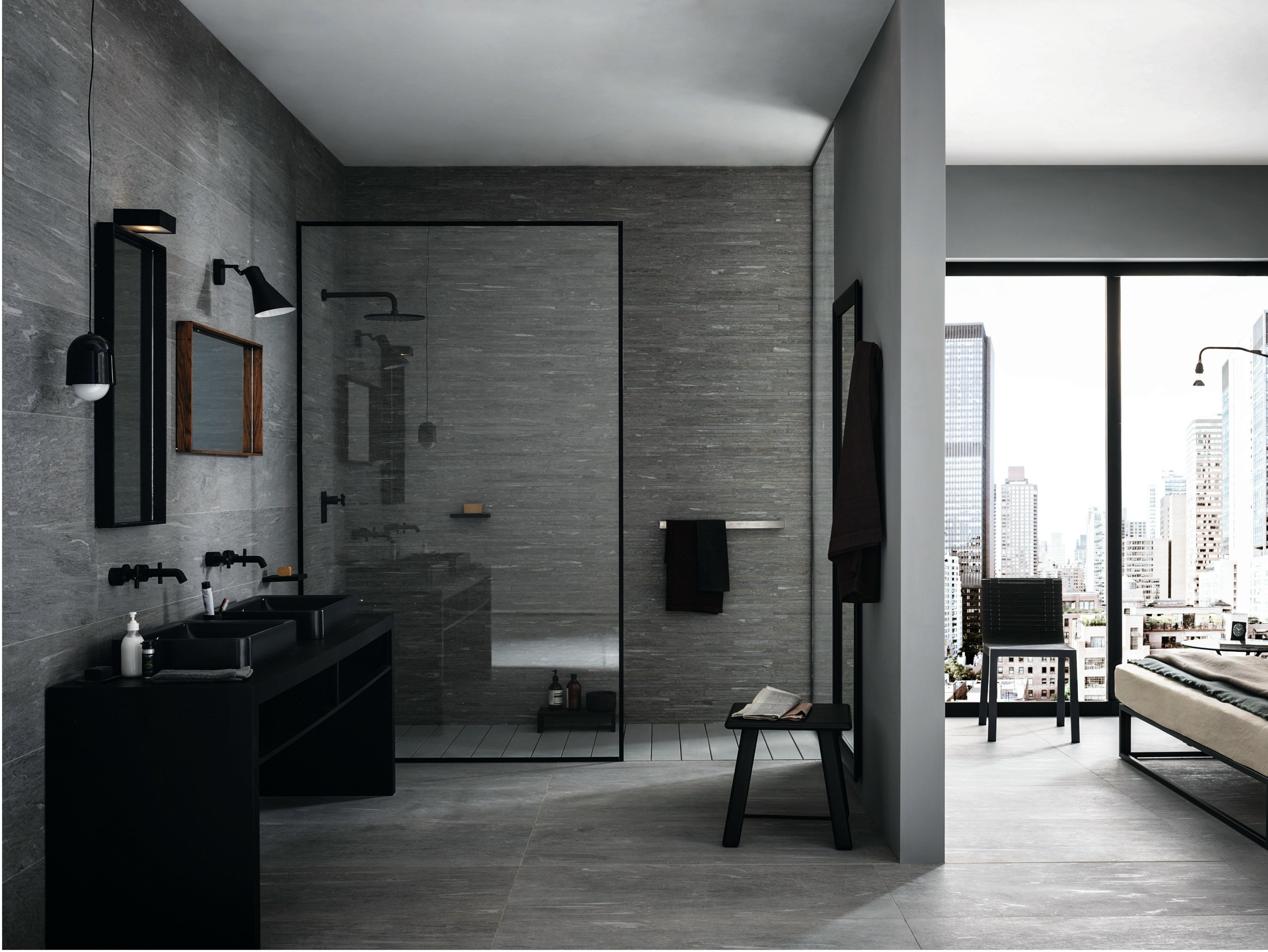 Wand und bodenbelag aus feinsteinzeug mystone pietra di vals by marazzi - European bathroom designs inspirations ...