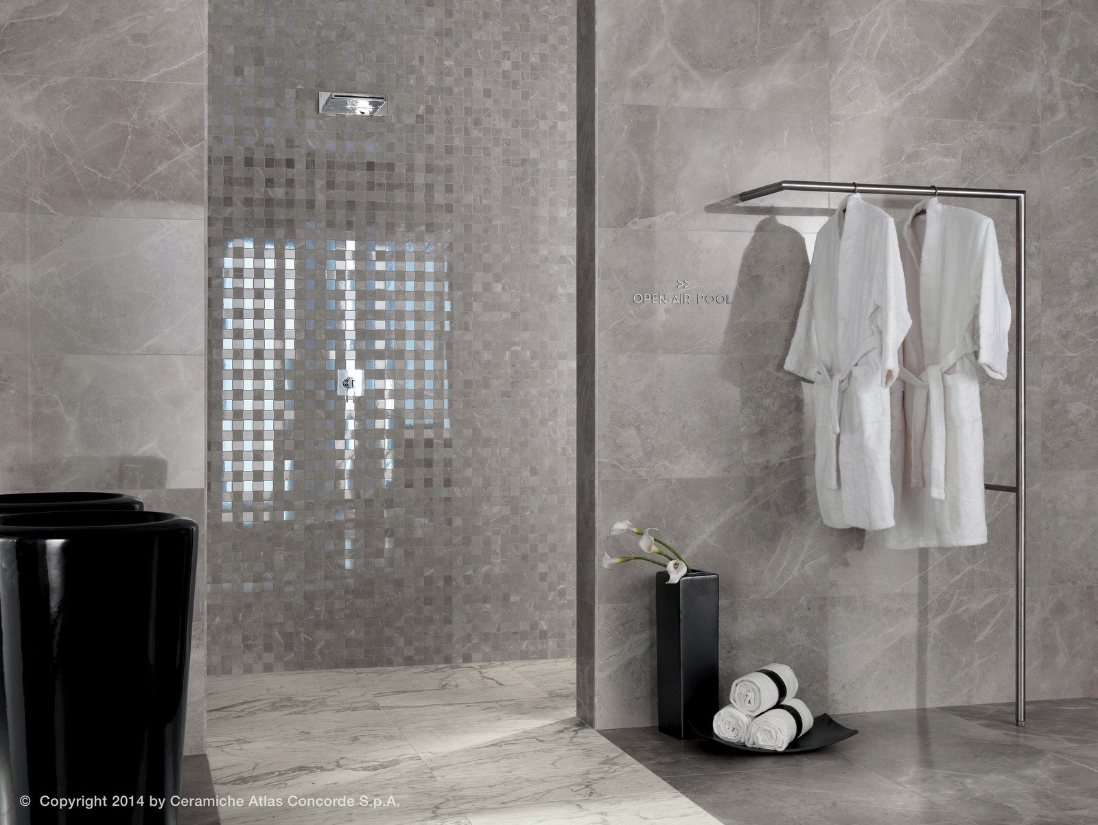 Marvel pro ceramic mosaic by atlas concorde - Doccia in muratura ...