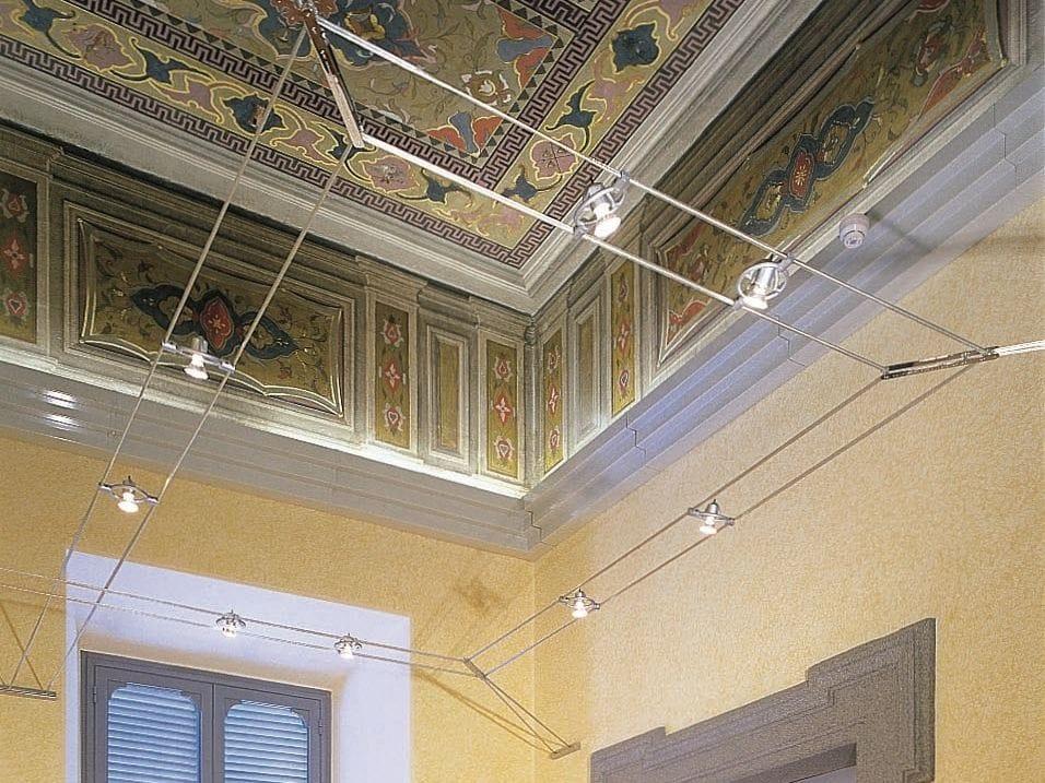 Faretto alogeno a soffitto MINITENSOFARIUNO by Cini&Nils design Mario Mel...