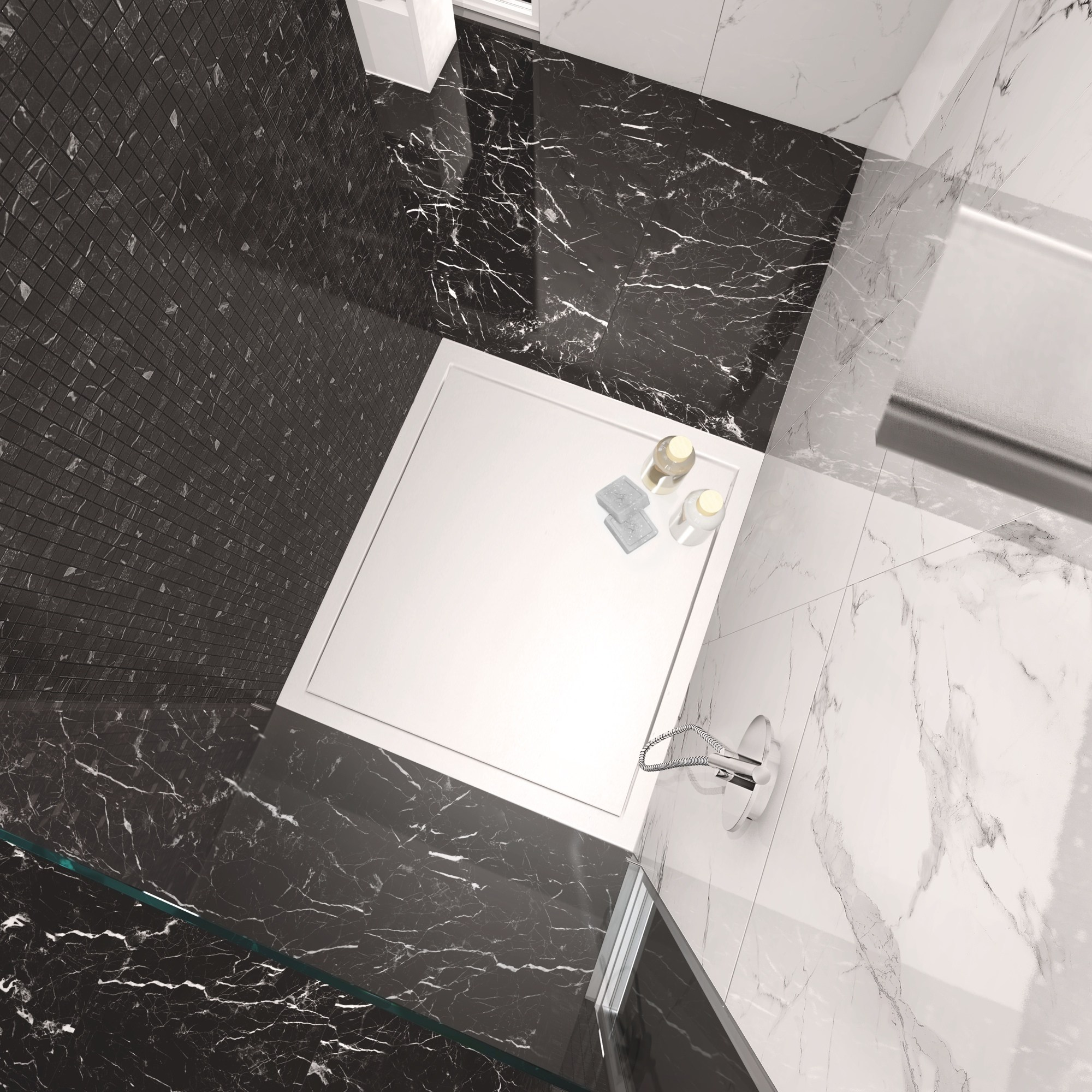 Porcelain stoneware wallfloor tiles with marble effect MARMOKER