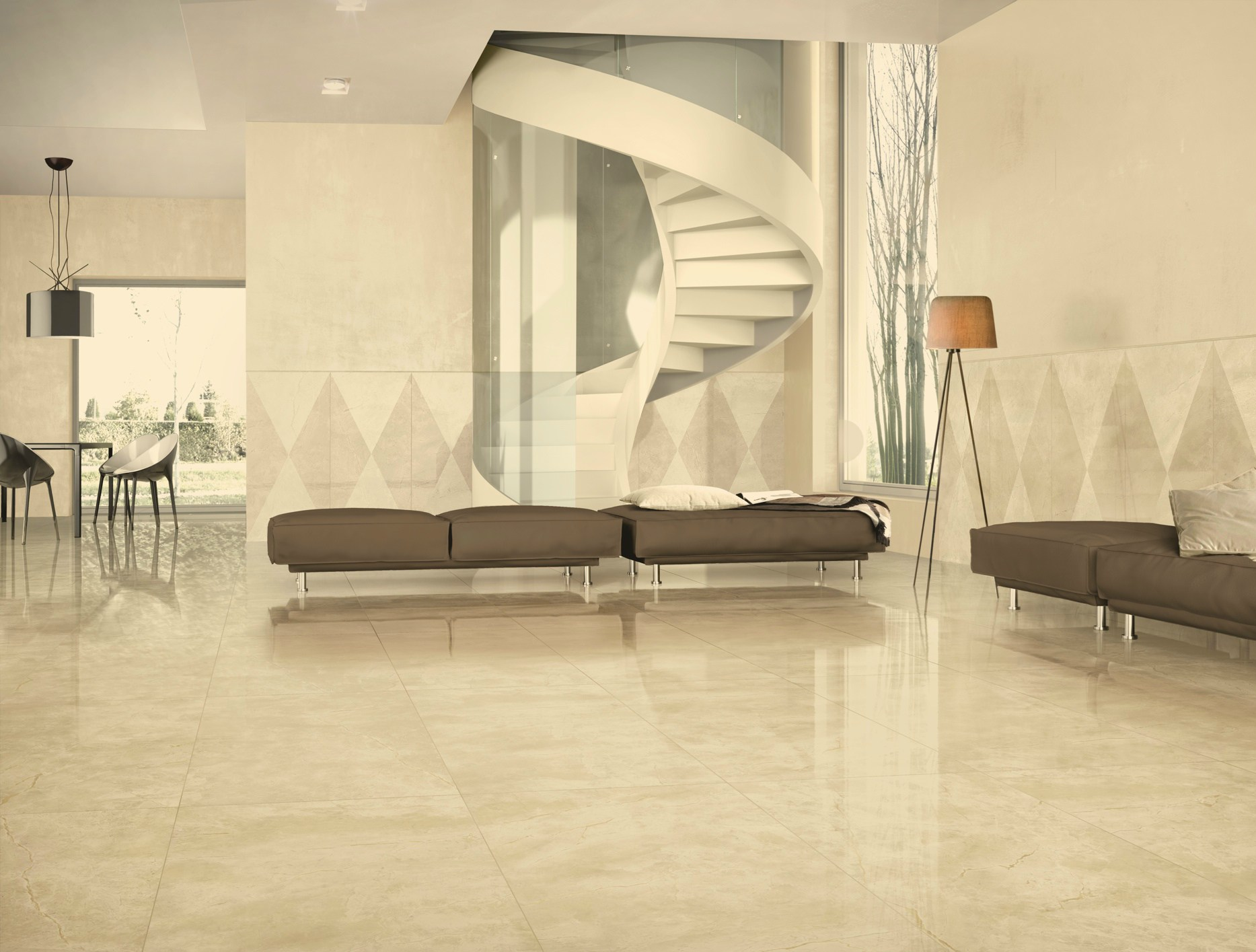 Porcelain stoneware wall floor tiles with marble effect for Carrelage casalgrande padana