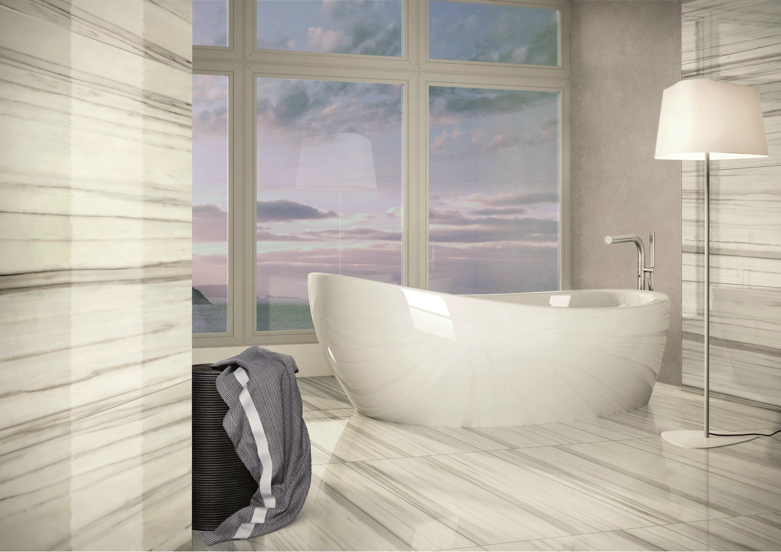 Pavimento rivestimento in gres porcellanato effetto marmo - Piastrelle casalgrande padana ...