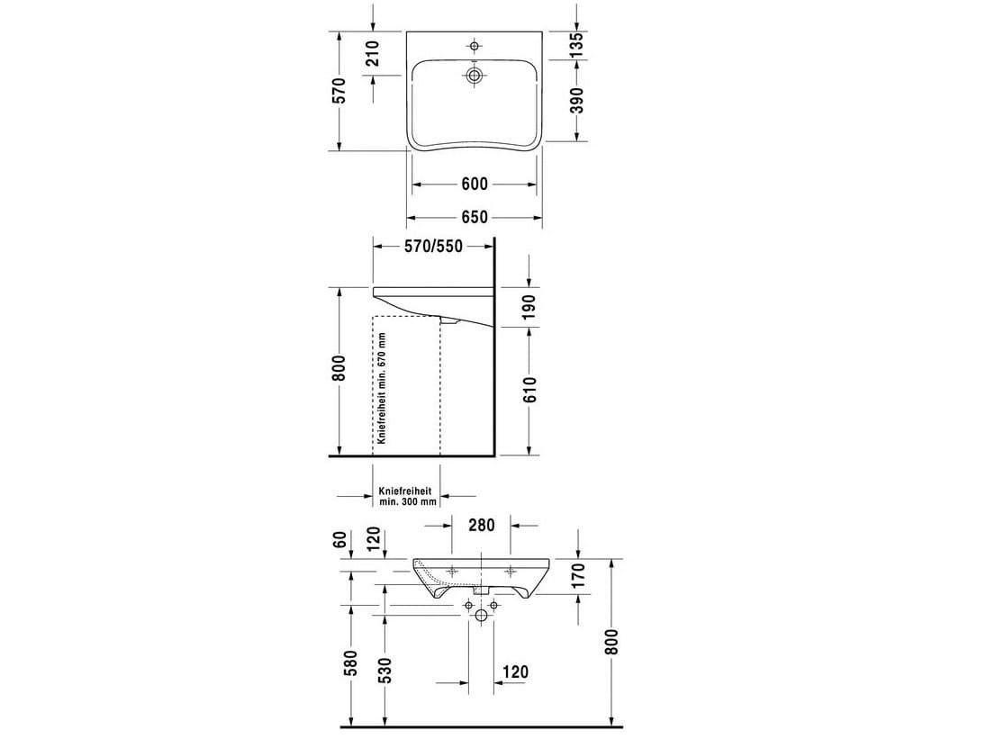 Durastyle home lavabo pour handicap s by duravit design for Lavabos para minusvalidos