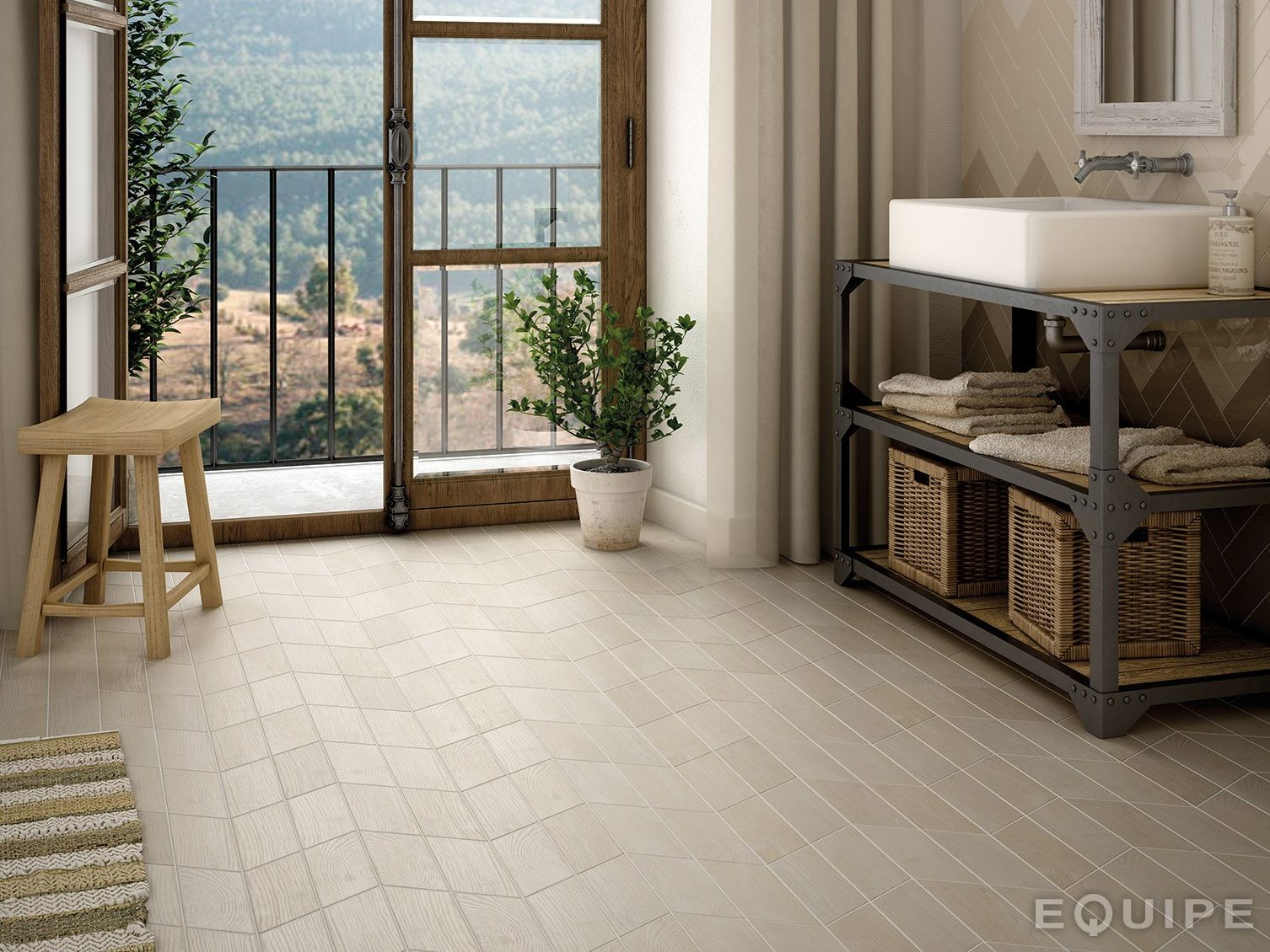 hexawood ceramic wall floor tiles by equipe ceramicas. Black Bedroom Furniture Sets. Home Design Ideas