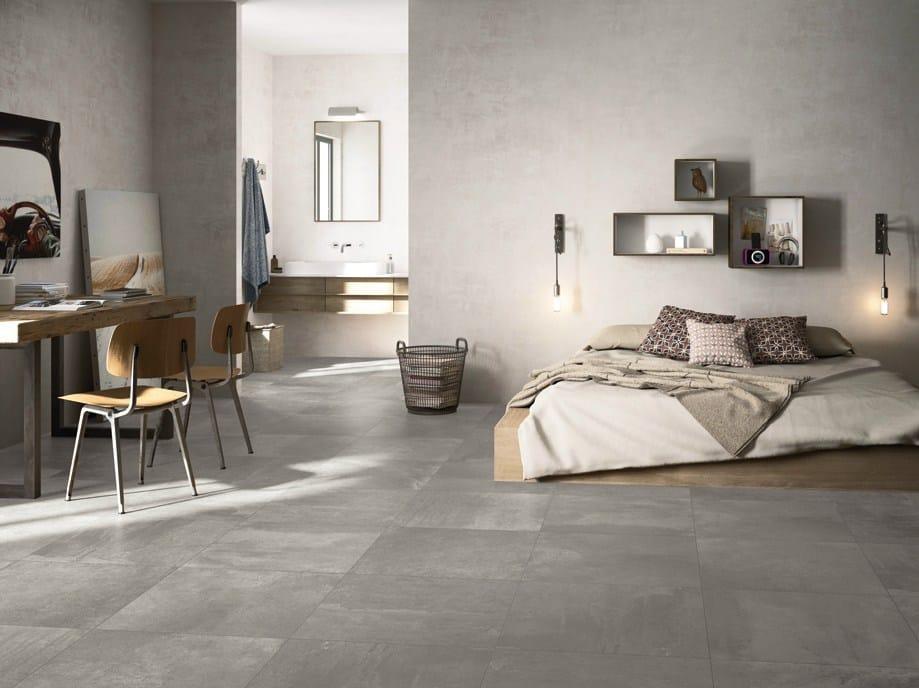 Pavimento de gres porcelánico esmaltado efecto concreto oficina by ...