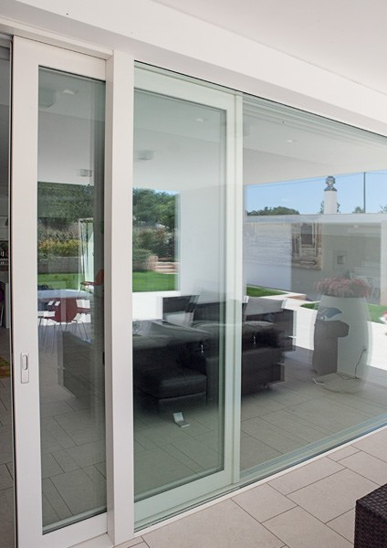 Porta finestra in alluminio e legno exter alu wglass collezione legno alluminio by de carlo casa - De carlo finestre ...