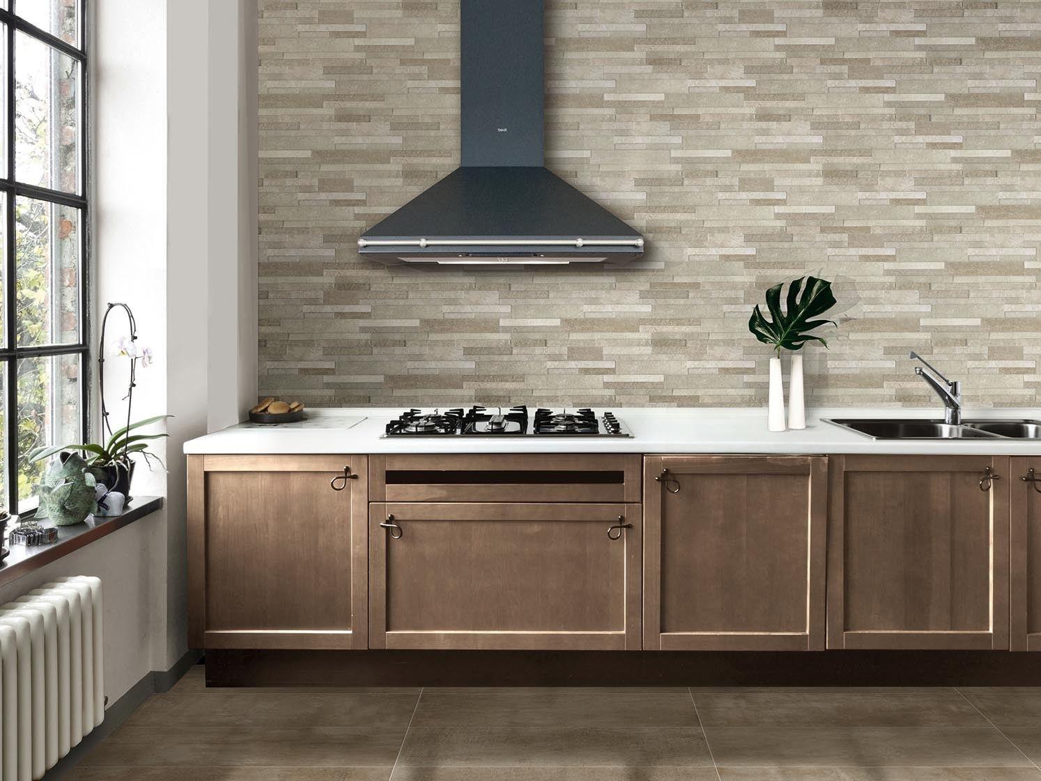 Rivestimento per interni concrete muretto by ceramiche - Piastrelle decorative per cucina ...