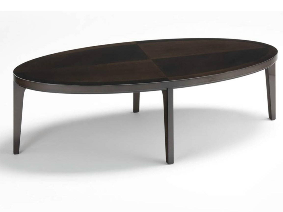 Vendome table basse by hugues chevalier - Table basse ovale blanche ...