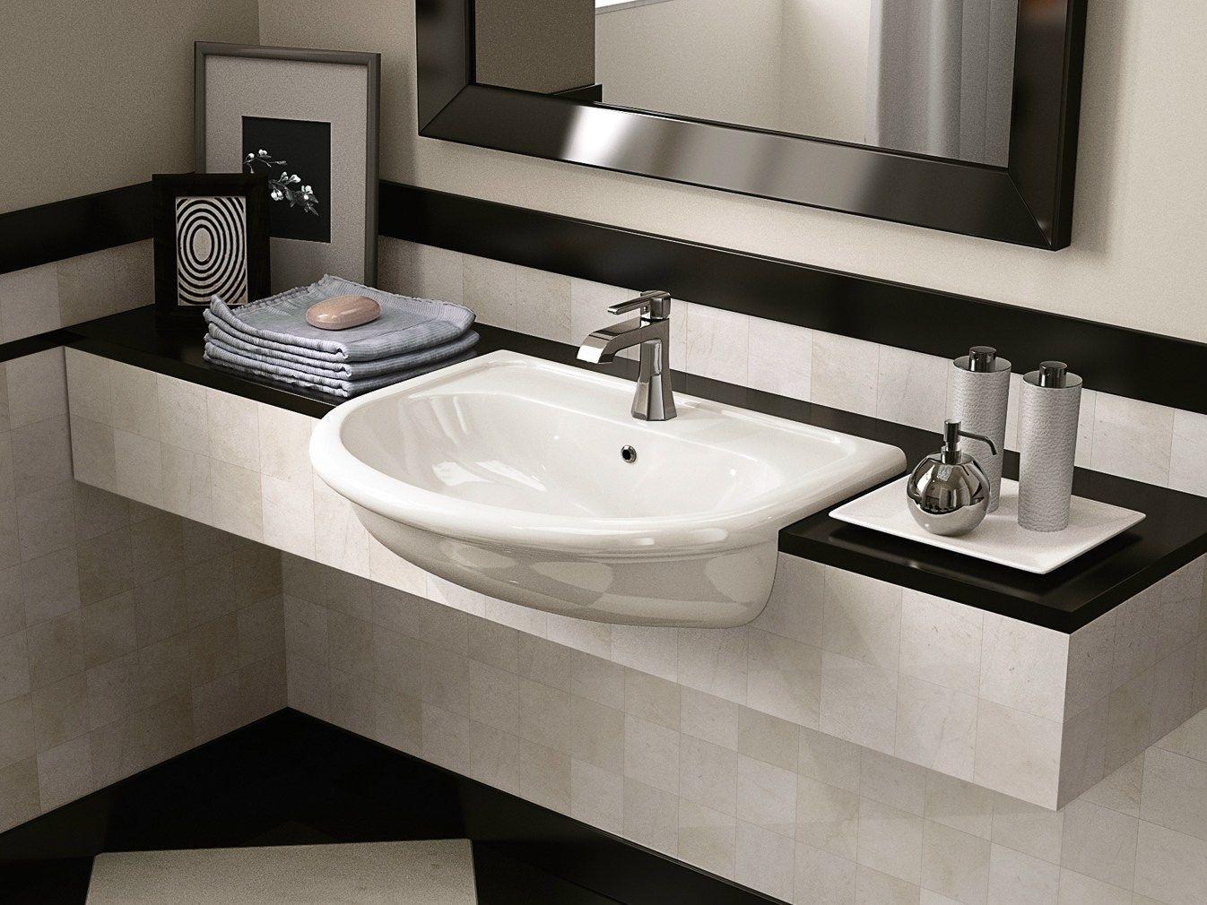 Fidia lavabo semiempotrado by ceramica flaminia for Lavabos de ceramica