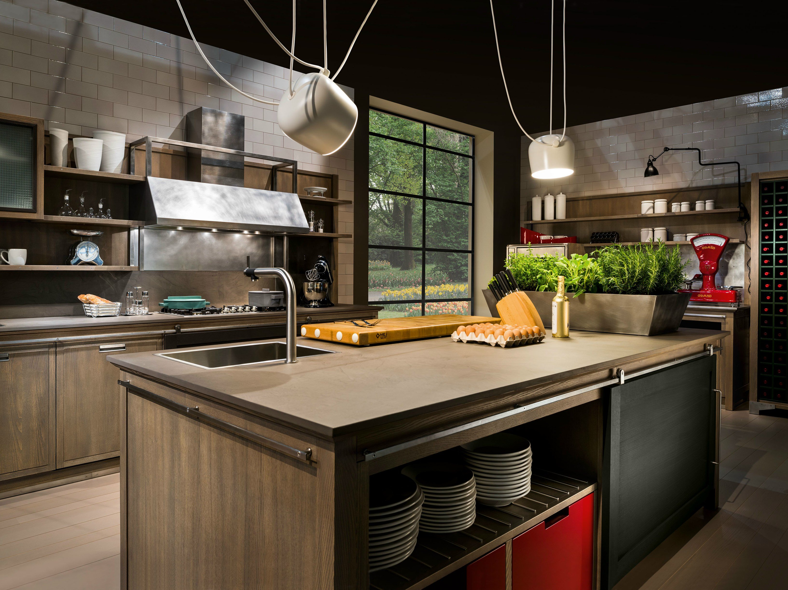 INDUSTRIAL CHIC Cucina Con Isola By L'Ottocento #BA1014 3266 2449 Cucine Stile Industrial Chic