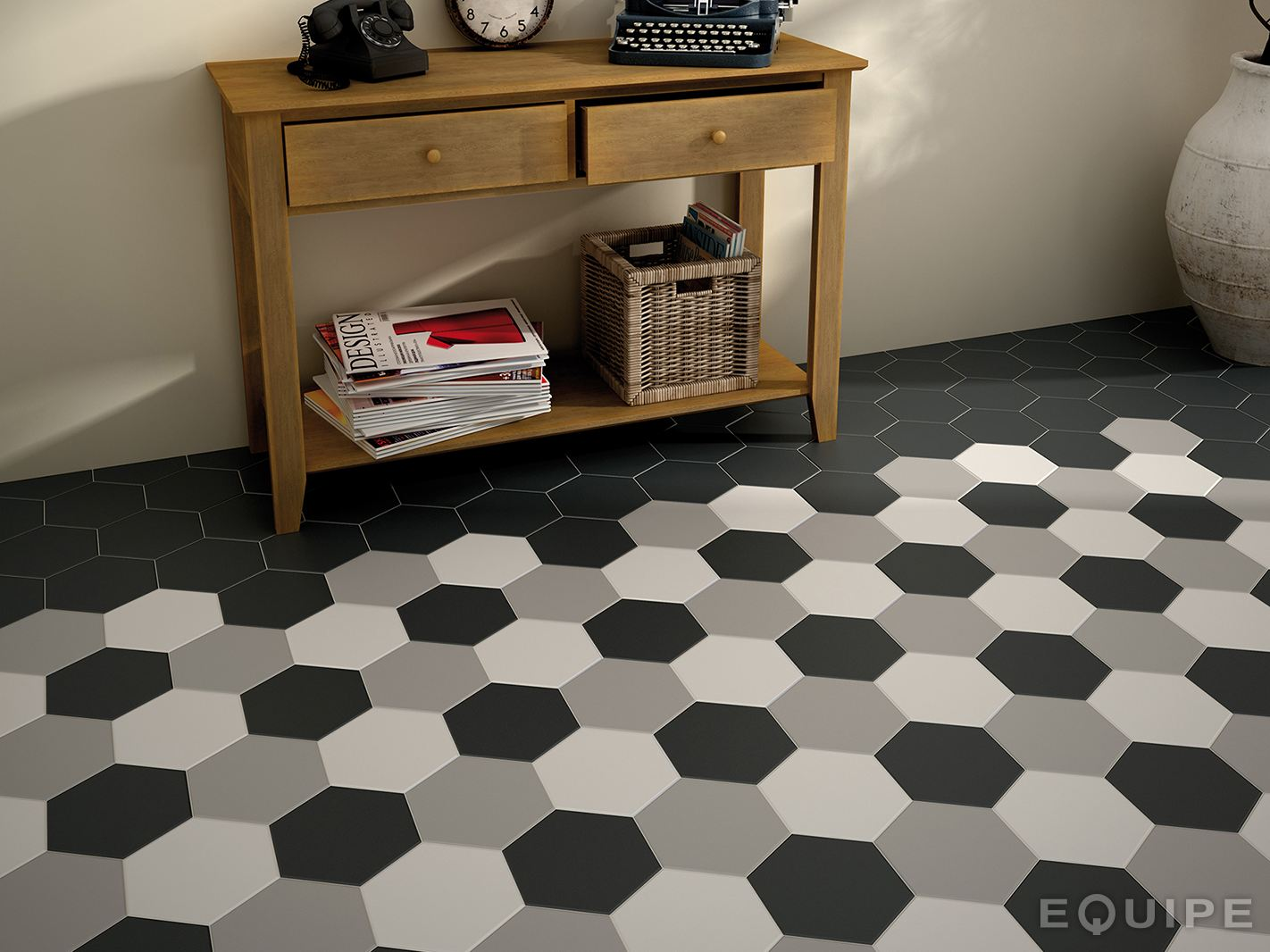 hexatile rev tement de sol by equipe ceramicas. Black Bedroom Furniture Sets. Home Design Ideas