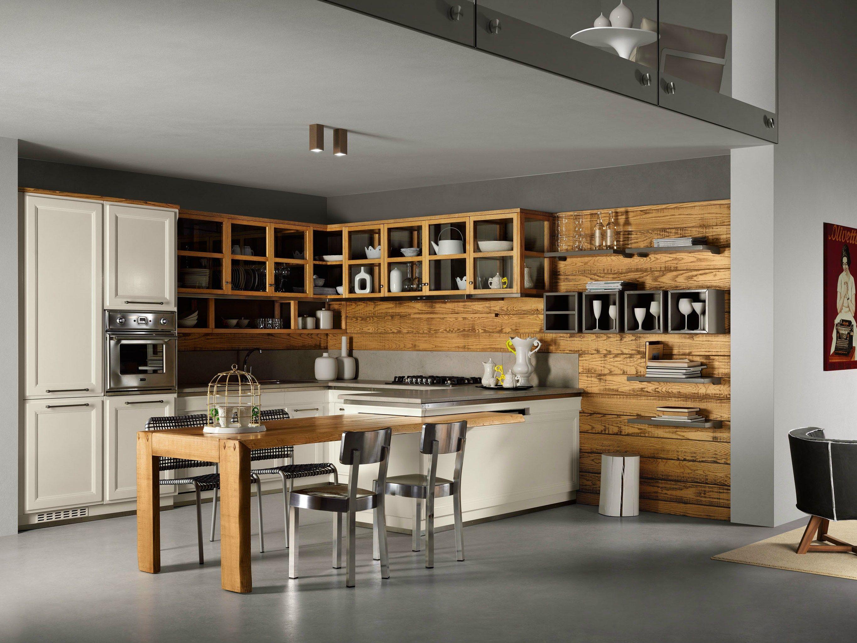 cuisine int gr e avec p ninsule living veranda by l 39 ottocento. Black Bedroom Furniture Sets. Home Design Ideas