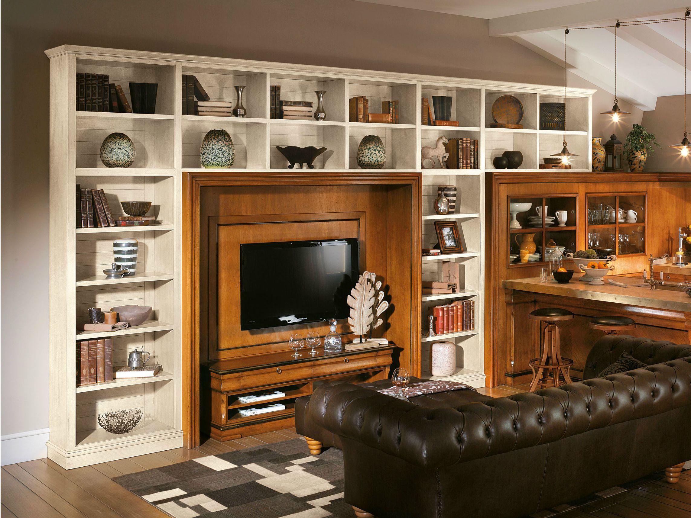 Libreria a giorno modulare calendario antiqua by l 39 ottocento - L ottocento mobili ...
