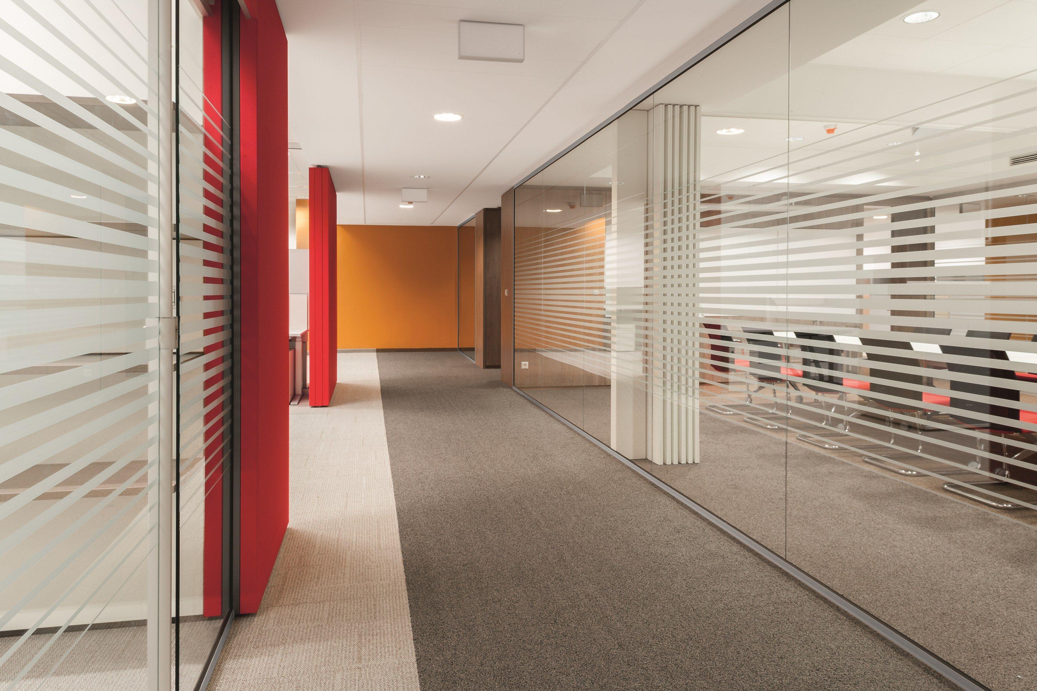 Parete mobile in vetro per ufficio rg parete in vetro by bene ...