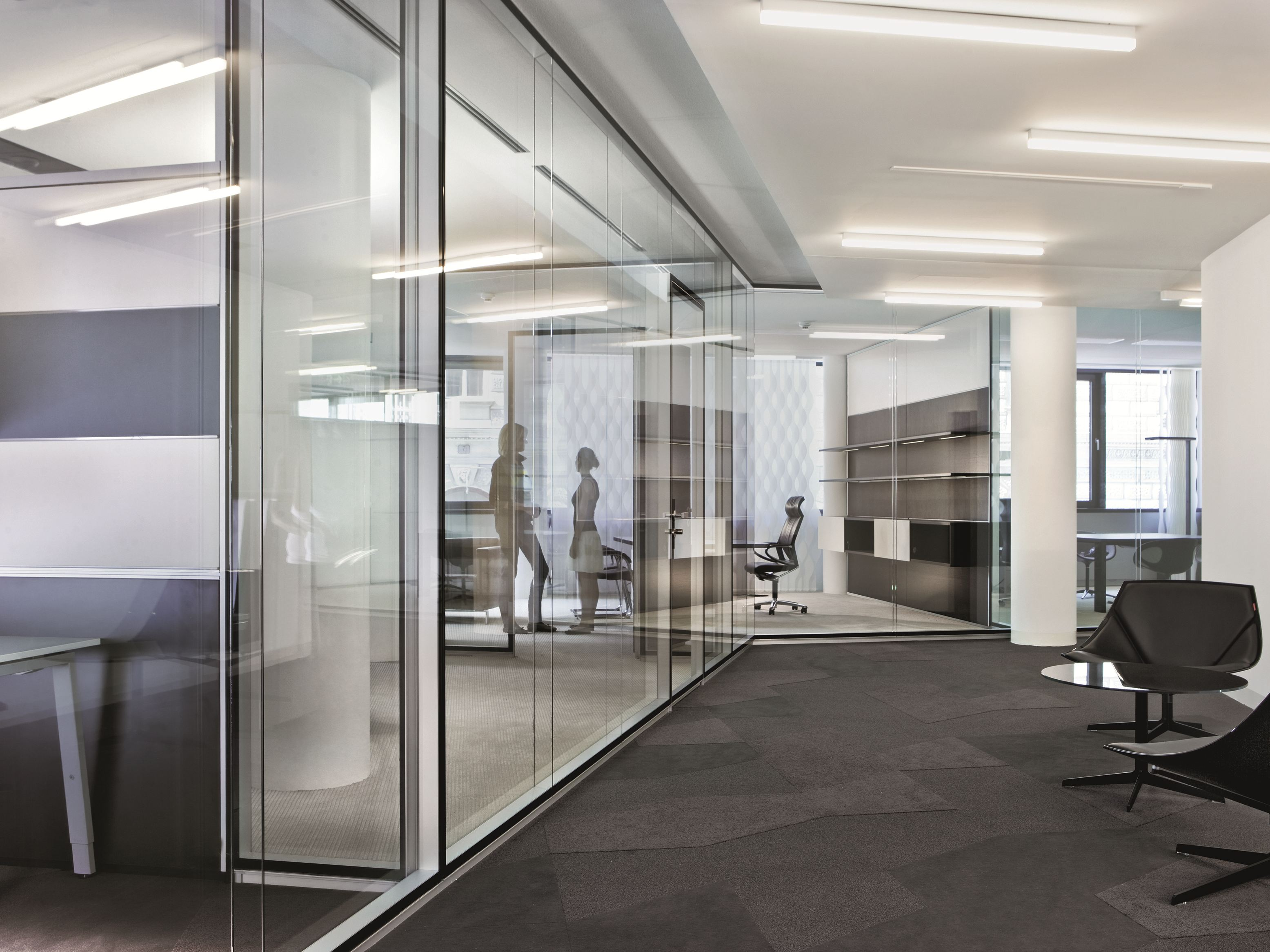 Glass Office Partition Rf Corridor Wall By Bene Design