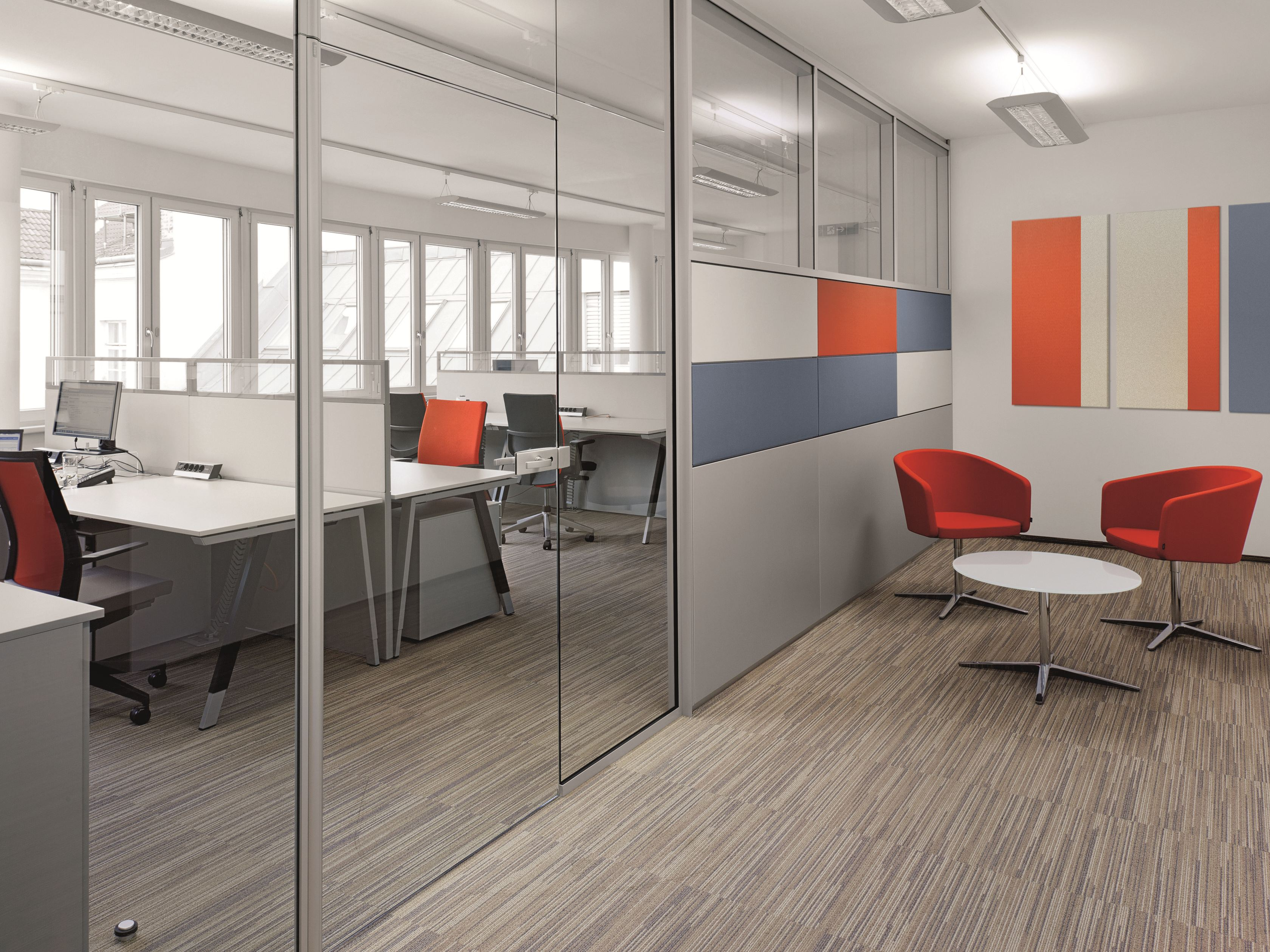 cloison amovible de bureau en verre r platform by bene. Black Bedroom Furniture Sets. Home Design Ideas