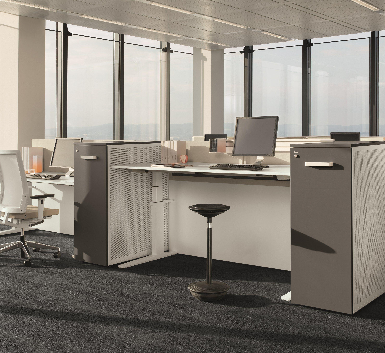OFFICE WORKSTATION T-LIFT DESK BY BENE