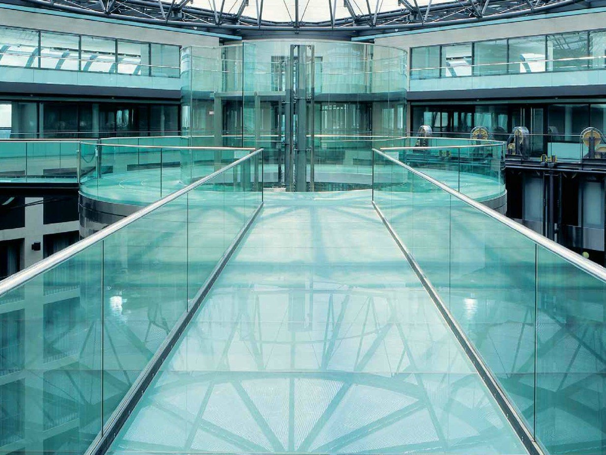 Dreaming Being in an Empty Abandoned Mall with a Glass Floor