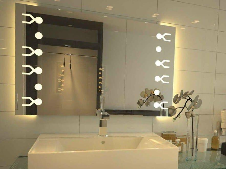 Miroir avec clairage int gr desire by glassolutions for Miroir avec eclairage