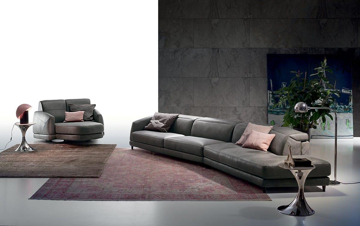 Divano relax con movimento elettrico dunn leather by ditre for Casa mia arredamenti