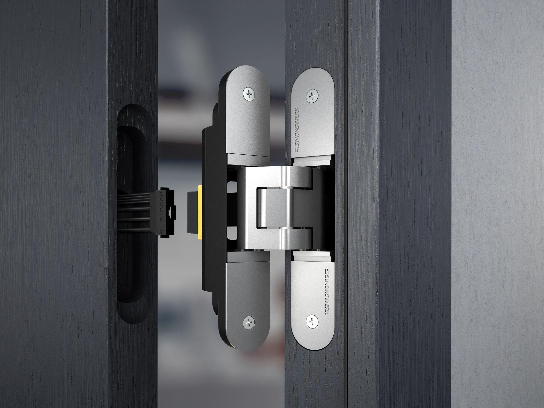 Concealed door hinge tectus energy by simonswerk for Concealed door hinges